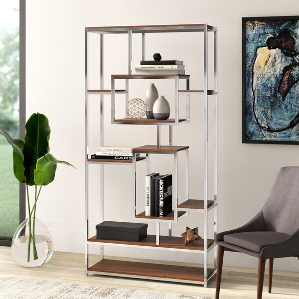 Clements Geometric Bookcase By Mercury Row