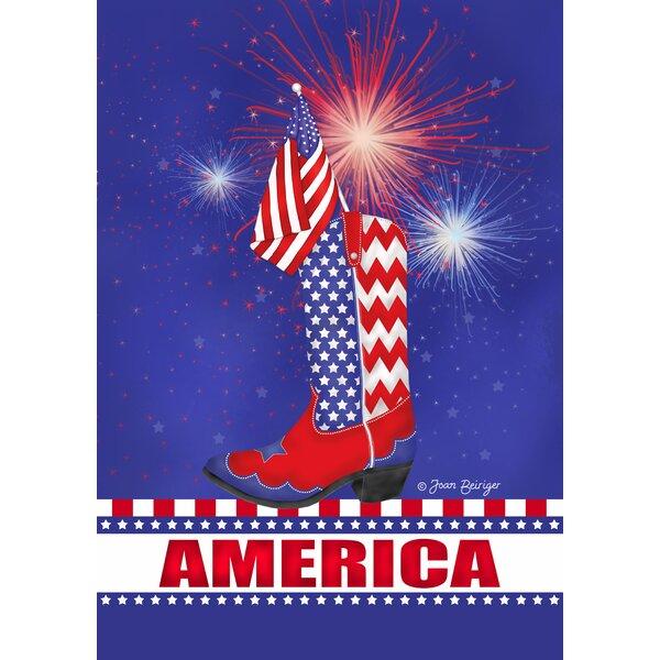 Celebrate America Garden flag by Toland Home Garden
