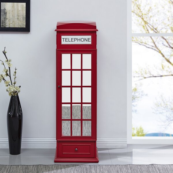 Benedict Phone Booth Free Standing Jewelry Armoire by Latitude Run Latitude Run