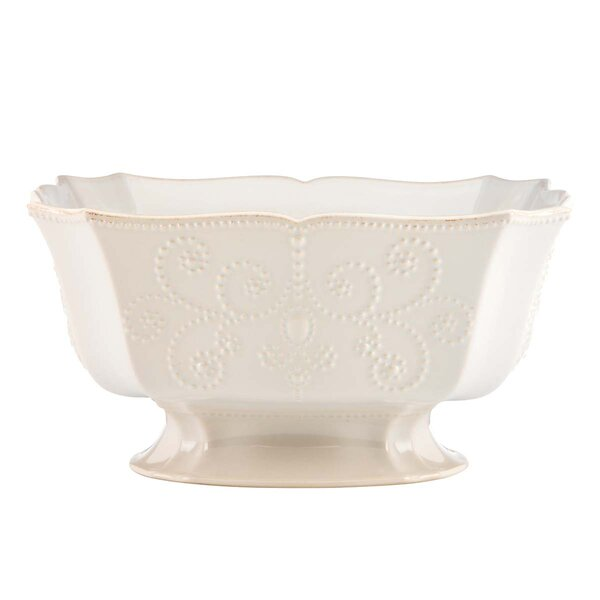 French Perle Footed Centerpiece Serving Bowl by Lenox