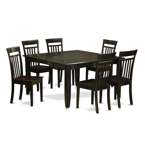 Pilning 7 Piece Wood Dining Set by August Grove