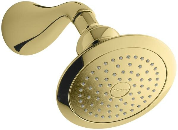 Revival 2.5 GPM Single Function Wall Mounted Showerhead With Katalyst And MasterClean Spray Nozzle By Kohler