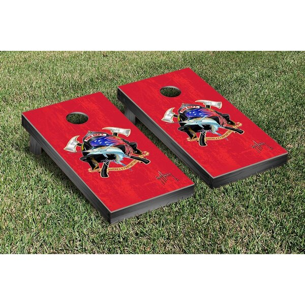 Guy Harvey Fire Department Cornhole Game Set by Victory Tailgate