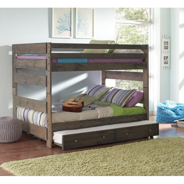 Setser Full Over Full Bunk Bed with Stairway Chest by Harriet Bee
