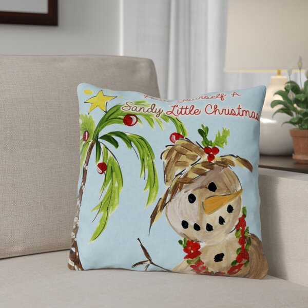 Sandy Little Christmas Throw Pillow by The Holiday Aisle