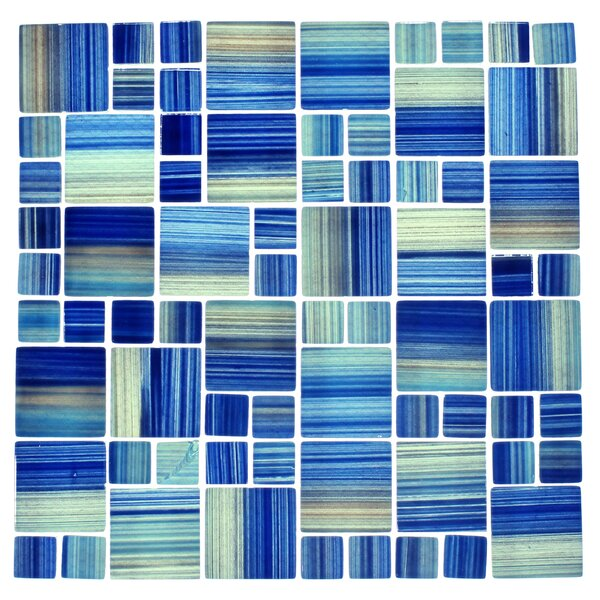 Swimming Pool Series 2 x 2 Glass Mosaic Tile in Blue by WS Tiles