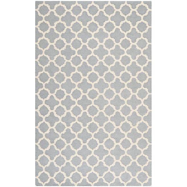 Martins Circle Silver &  Area Rug by Wrought Studio