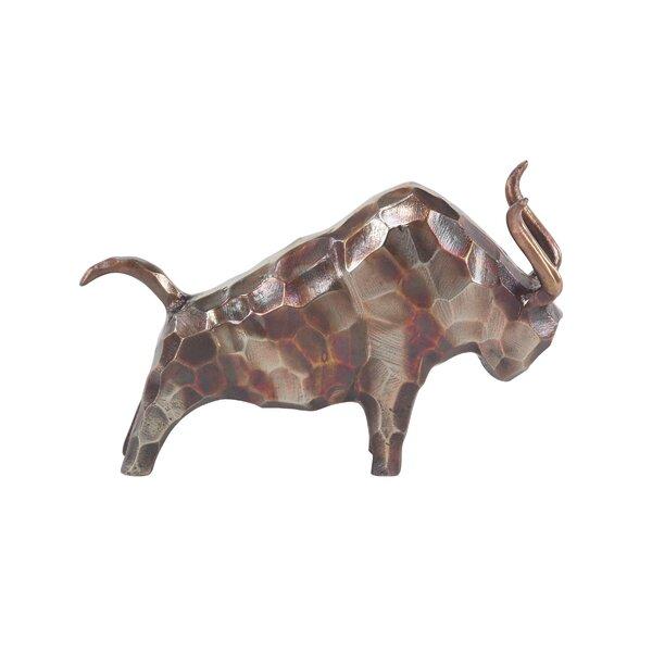 Walpole Contemporary Bull Metal Figurine by Union Rustic