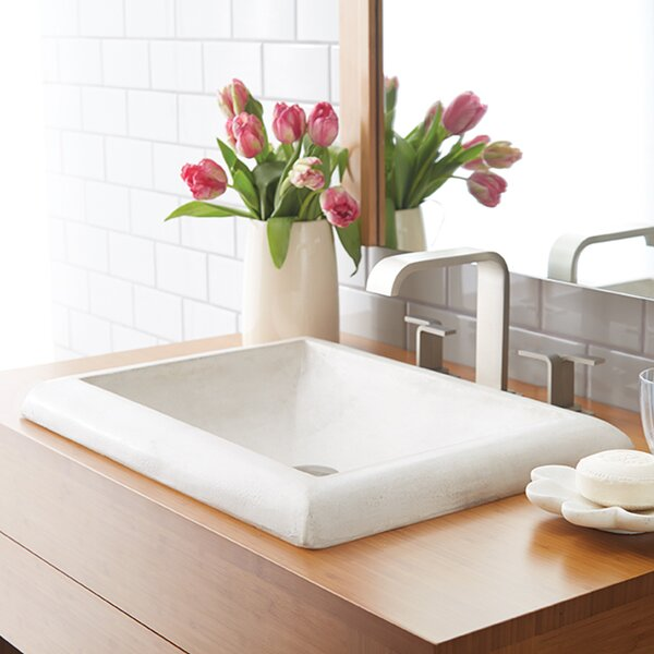Montecito Stone Rectangular Drop-In Bathroom Sink