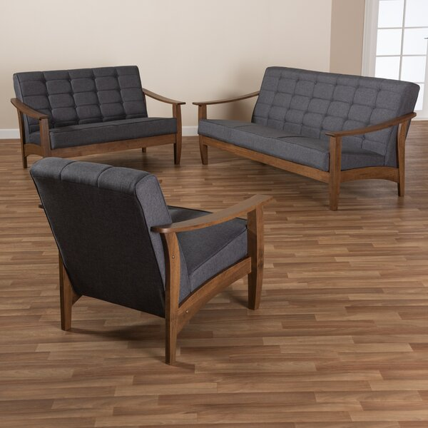 Pliner 3 Piece Living Room Set by Wrought Studio