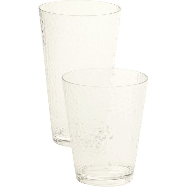12 Piece Plastic Assorted Glassware Set by Certified International