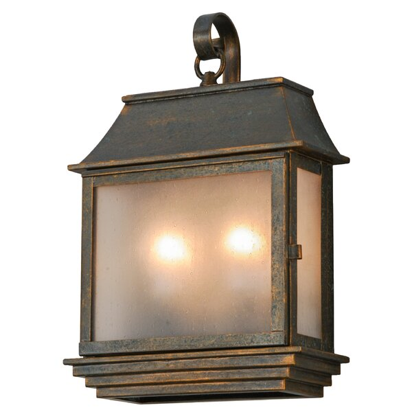 Uxbridge Pocket 2-Light Outdoor Wall Lantern by Canora Grey