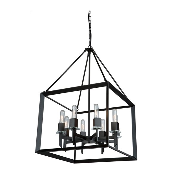 Haught 8 - Light Lantern Square Chandelier by Brayden Studio Brayden Studio