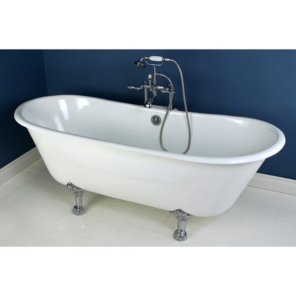 Aqua Eden 69 x 28 Freestanding Soaking Bathtub by Kingston Brass