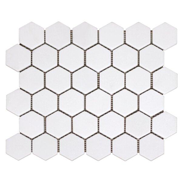 Greek Thassos Hexagon 2 x 2 Marble Mosaic Tile