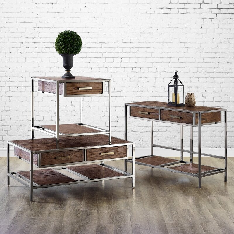 Falkner 3 Piece Coffee Table Set