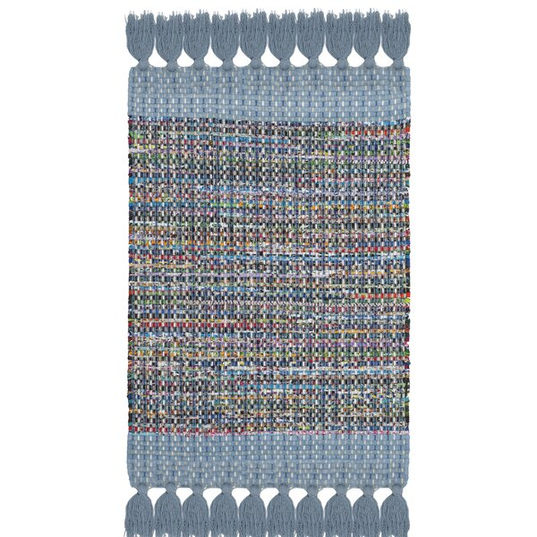 Abner Hand-Woven Blue/Gray Area Rug by Harriet Bee
