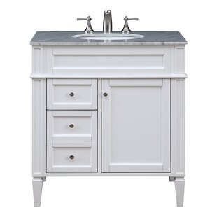 Southern Enterprises Holly & Martin Tobin Bath Vanity Sink with Marble Top