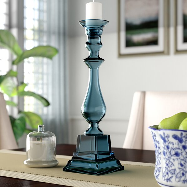 Glass Knight Pillar Holder by Darby Home Co