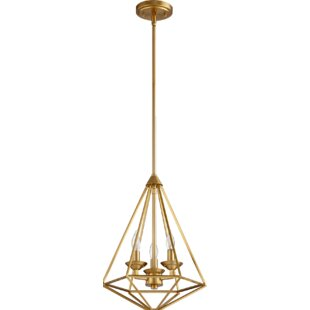 Calne 3-Light Geometric Chandelier by Everly Quinn