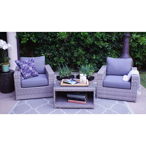 Kordell Olefin 3 Piece Seating Group with Cushions by Sol 72 Outdoor
