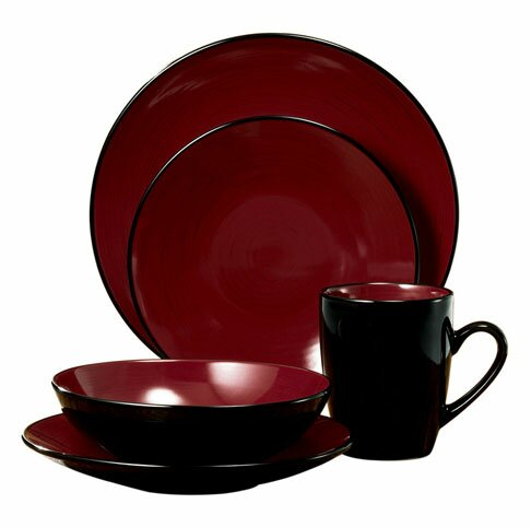 Domo 16 Piece Dinnerware Set, Service for 4 by Thomson Pottery