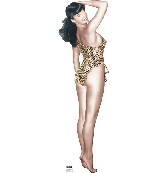 Bettie Page - Leopard Bikini Cardboard Standup by Advanced Graphics