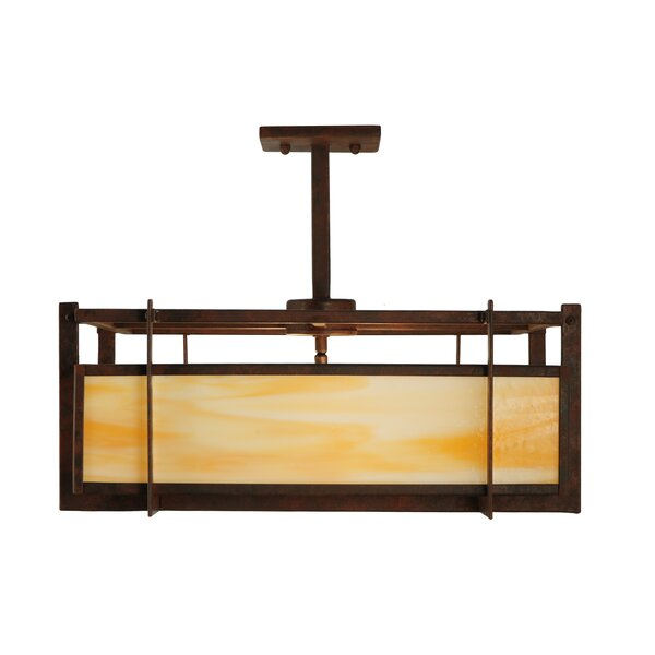 Boulder Creek 2-Light Unique / Statement Rectangle / Square Chandelier by Meyda Tiffany Meyda Tiffany