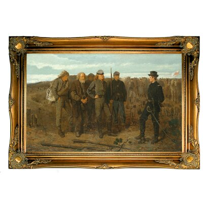 Prisoners by winslow homer framed graphic art print on canvas