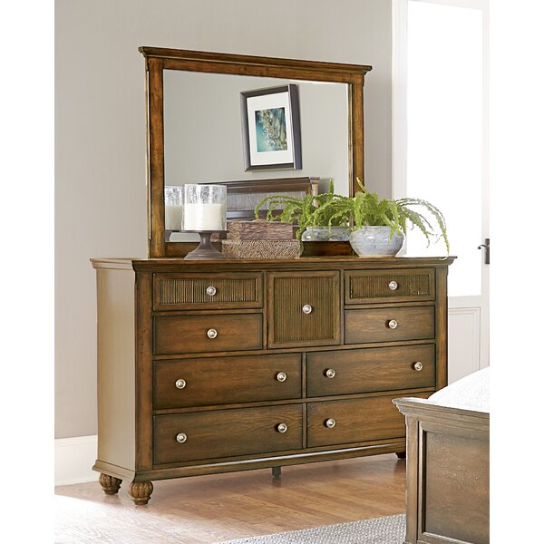 Langham 9 Drawer Dresser with Mirror by Bay Isle H