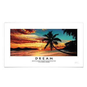 Panoramic Dream Beach Motivational Photographic Print by Successories