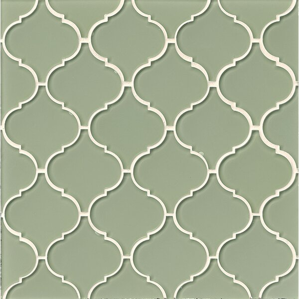 La Palma Glass Mosaic Tile in Glossy Green by Grayson Martin