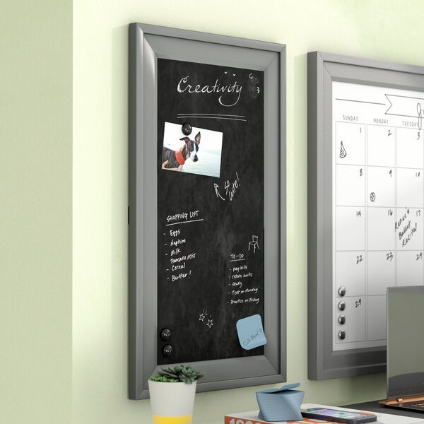Contemporary Wall Mounted Chalkboard by Ivy Bronx