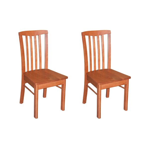 Bonenfant Side Chair in Wood Seat (Set of 2) by Darby Home Co