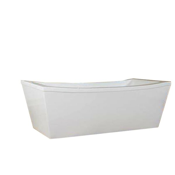 Milan 70 x 34 Freestanding Soaking Bathtub by Modetti USA LLC