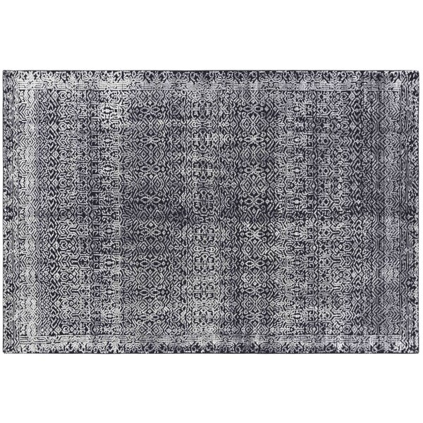 Hand-Woven Blue/White Area Rug by GAN RUGS