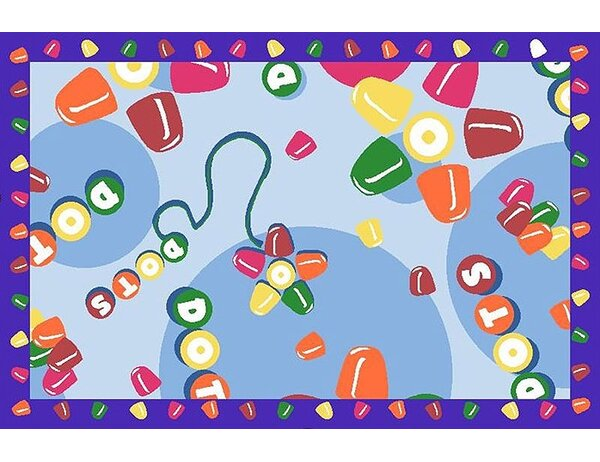Tootsie Roll Dots Area Rug by Fun Rugs