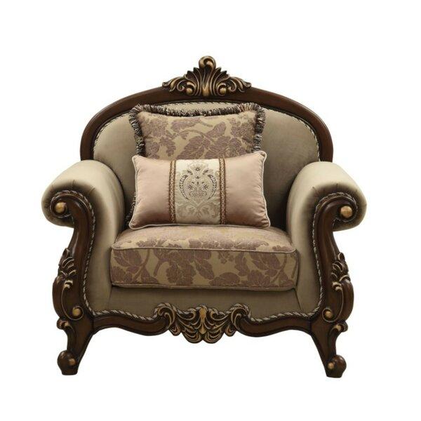 Home & Outdoor Swett Arched Backrest Velvet Upholstery Armchair