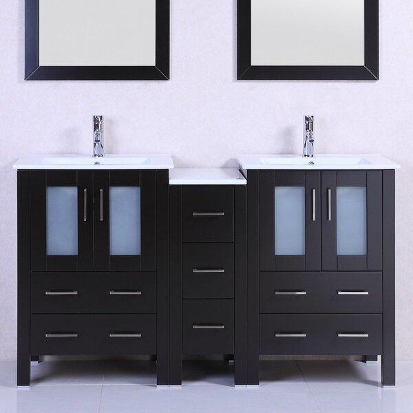 Modern 60 Double Bathroom Vanity Set by Belvedere Bath