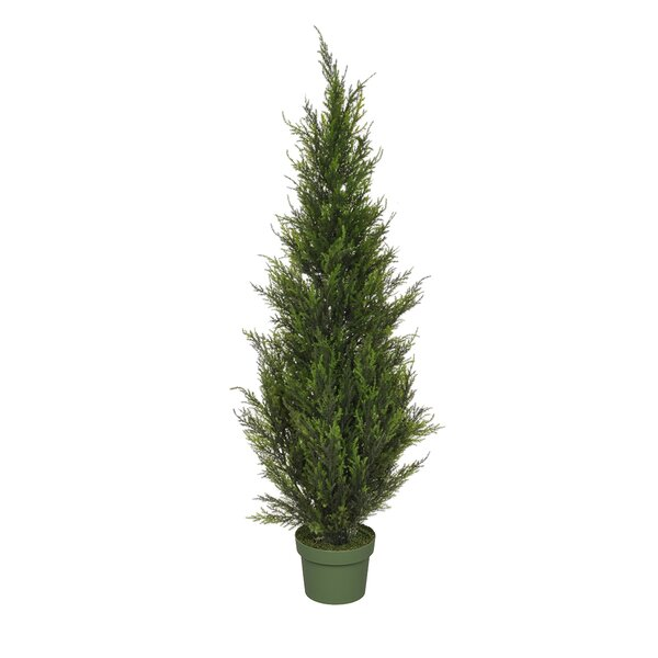 Artificial Floor Cedar Faux Tree in Pot by Red Barrel Studio