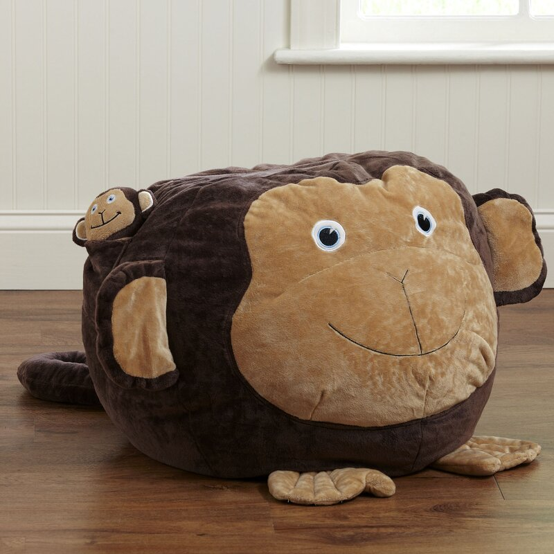 Birch Lane Kids Monkey Bean Bag Chair Amp Reviews Wayfair