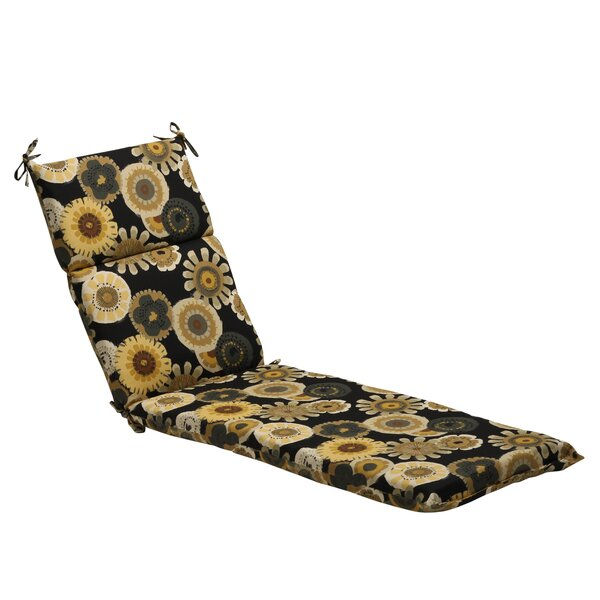 Floral Indoor/Outdoor Chaise Lounge Cushion by Pillow Perfect
