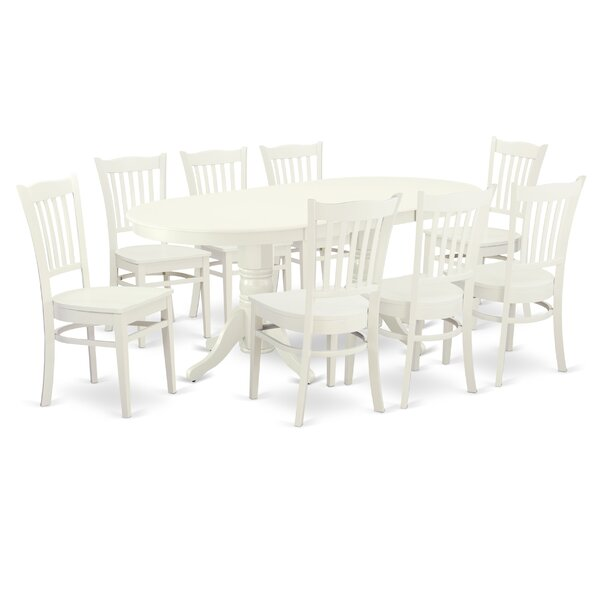 Kaibab 9 Piece Extendable Solid Wood Dining Set By Winston Porter