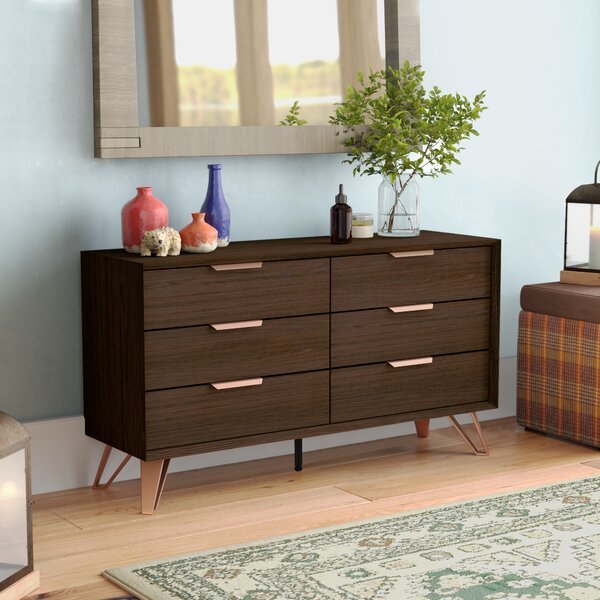 Lininger 6 Drawer Double Dresser by Union Rustic