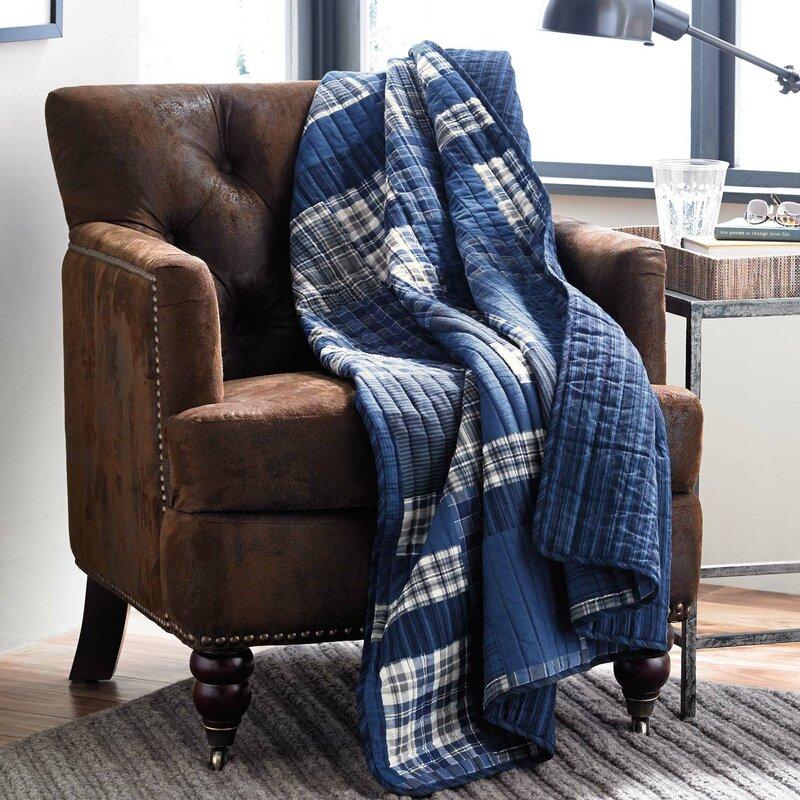 Eddie Bauer Eastmont Quilted Cotton Throw Blanket & Reviews ... : quilted throw blanket - Adamdwight.com