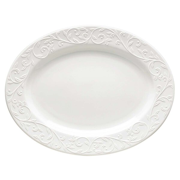 Opal Innocence Carved Oval Platter by Lenox