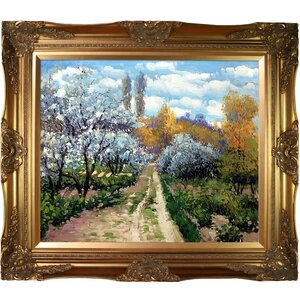 Trees in Bloom by Claude Monet Framed Painting Print by Tori Home