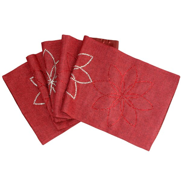 Pointsettia Table Runner by Sparkles Home