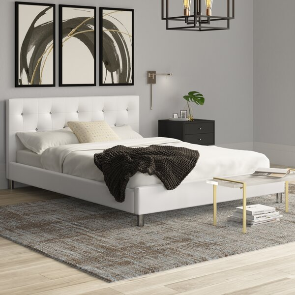 Iversen Upholstered Platform Bed by Mercury Row