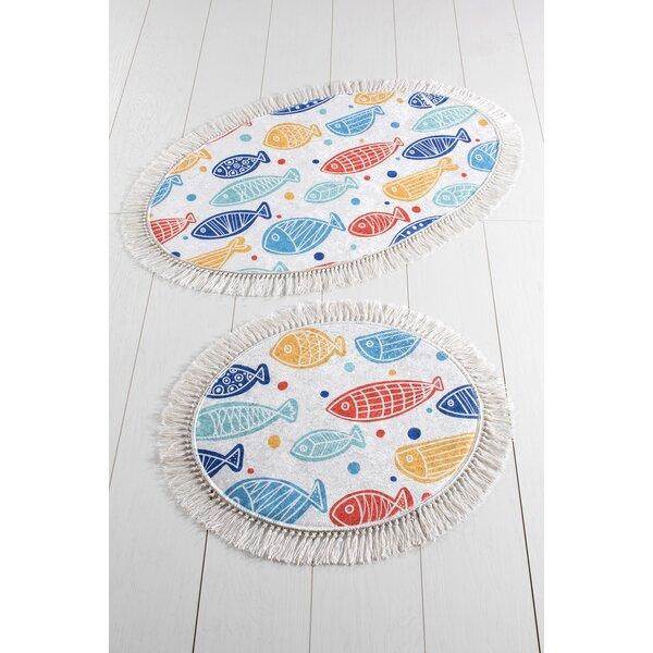 Yost 2 Piece Fish Bath Rug Set